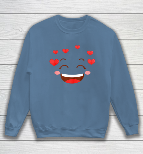 Kids Girls Valentine T Shirt Many Hearts Emoji Design Sweatshirt 6