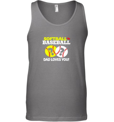 cv7r softball or baseball dad loves you gender reveal unisex tank 17 front graphite heather