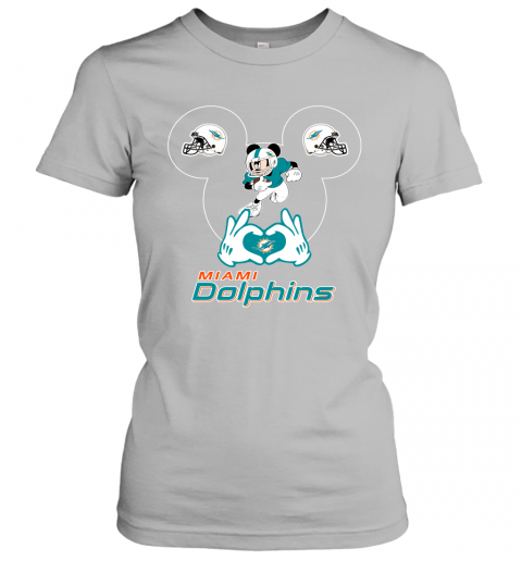 k7dy i love the dolphins mickey mouse miami dolphins ladies t shirt 20 front sport grey