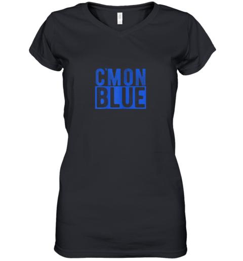 Cmon Blue, Umpire, Baseball Fan Graphic Lover Gift Women's V-Neck T-Shirt