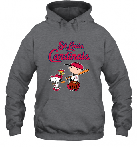 ygpg st louis cardinals lets play baseball together snoopy mlb shirt hoodie 23 front dark heather