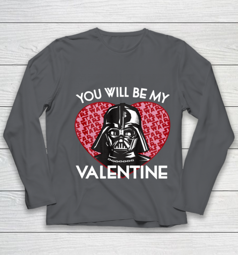 Star Wars You Will Be My Valentine Darth Vader Youth Long Sleeve 6