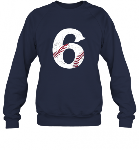 3lul kids happy birthday 6th 6 year old baseball gift boys girls 2013 sweatshirt 35 front navy