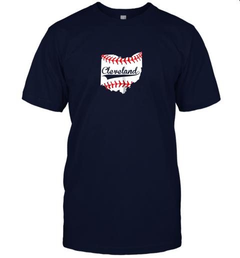 slr5 cleveland ohio 216 baseball jersey t shirt 60 front navy