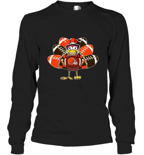 Cleveland Browns  Thanksgiving Turkey Football NFL Long Sleeve T-Shirt