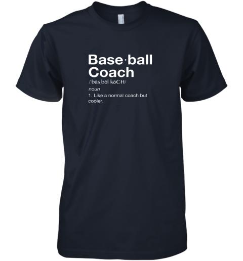 h3mq coach baseball shirt team coaching premium guys tee 5 front midnight navy