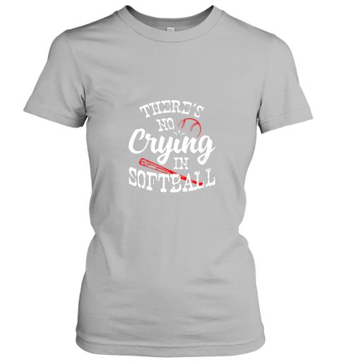 88ka theres no crying in softball game sports baseball lover ladies t shirt 20 front sport grey