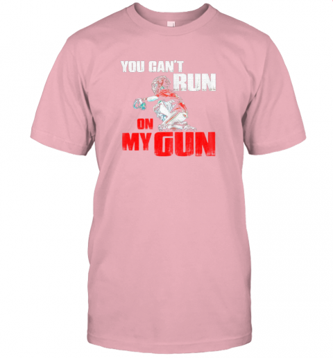 cwls you cant run on my gun shirt baseball jersey t shirt 60 front pink