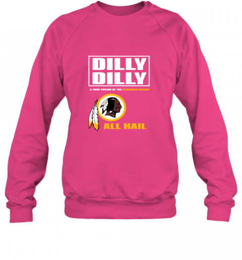 r91m a true friend of the redskins sweatshirt 35 front heliconia