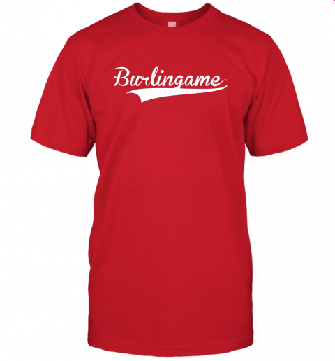 4j6a burlingame baseball softball styled jersey t shirt 60 front red