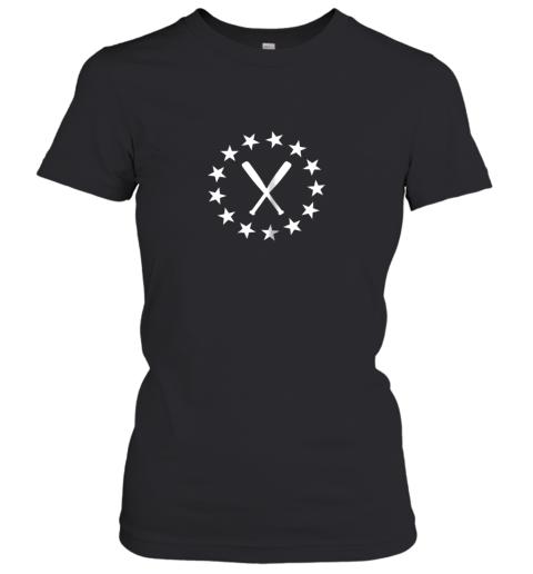 Baseball with Bats Shirt Baseballin Player Gear Gifts Women's T-Shirt
