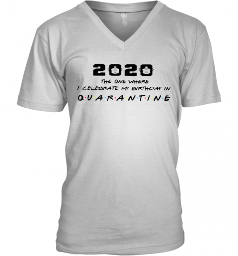 2020 The One Where I Celebrate My Birthday In Quarantine V-Neck T-Shirt