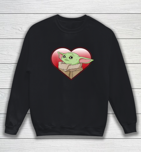 Star Wars The Mandalorian The Child Valentine Heart Portrait Sweatshirt