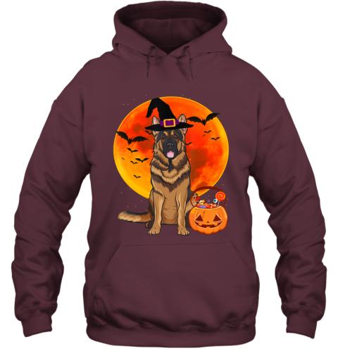 Dog Halloween German Shepherd Jack O Lantern Pumpkin Hoodie