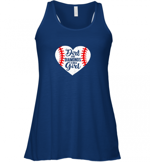 dba2 dirt and diamonds kinda girl baseball flowy tank 32 front true royal