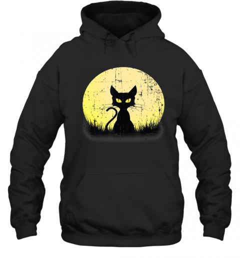 Vintage Halloween Beistle Cat on the Moon Horror Gift 2 Hoodie