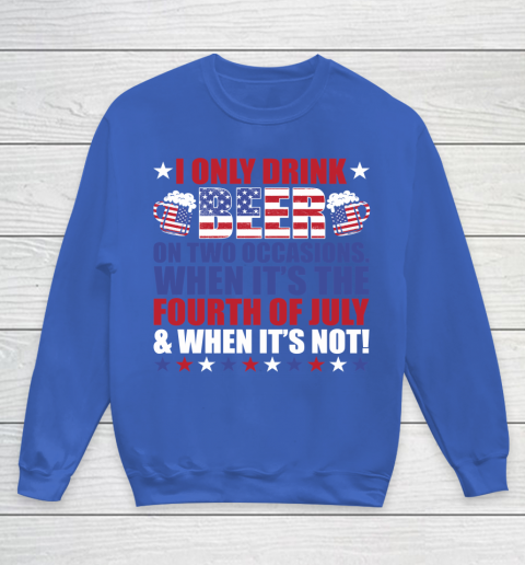 Beer Lover Funny Shirt Beer Fourth Of July Youth Sweatshirt 6