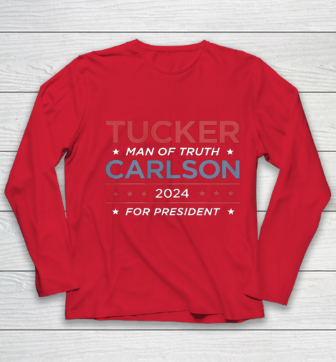 Vote For Tucker Carlson 2024 Presidential Election Campaign Youth Long Sleeve 8
