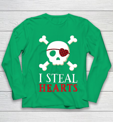 I Steal Hearts T Shirt Boy Girl Toddler Skull Valentine Gift Youth Long Sleeve 4