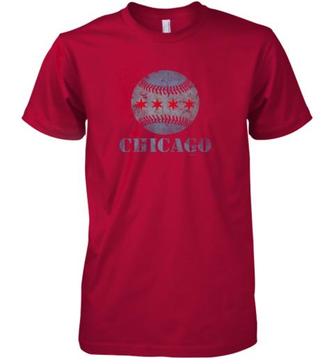 8ner vintage chicago baseball flag premium guys tee 5 front red