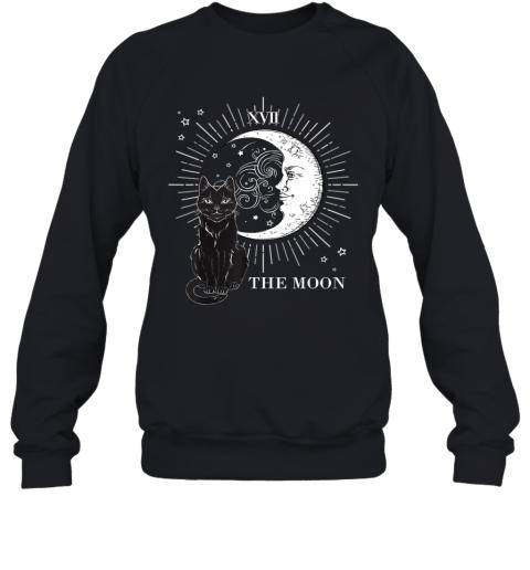 Vintage Scary Halloween Black Cat and Moon Costume Gift Sweatshirt