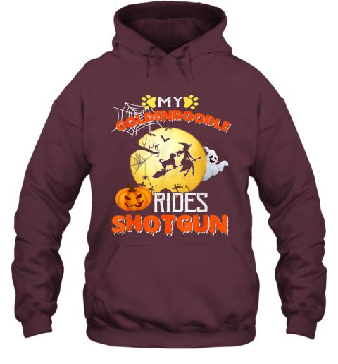 My Goldendoodle Rides Shotgun Halloween Dog Gift Hoodie