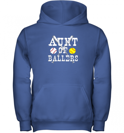yyra vintage aunt of ballers shirt funny baseball softball love youth hoodie 43 front royal