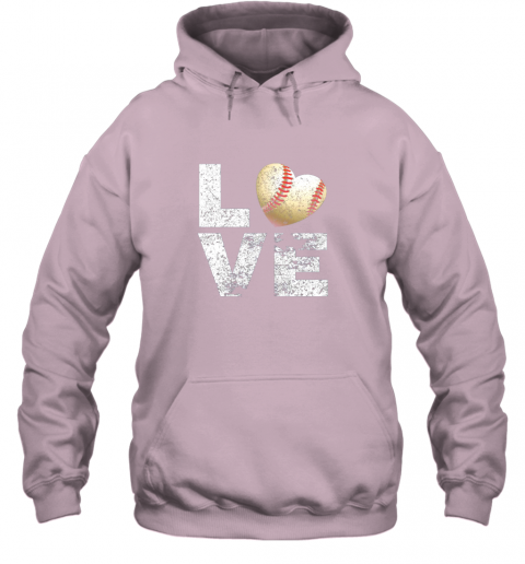 znls i love baseball funny gift for baseball fans lovers hoodie 23 front light pink