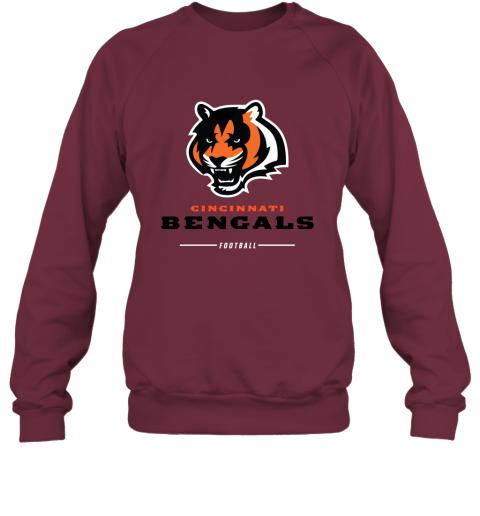 pkng cincinnati cengals nfl pro line black team lockup sweatshirt 35 front maroon