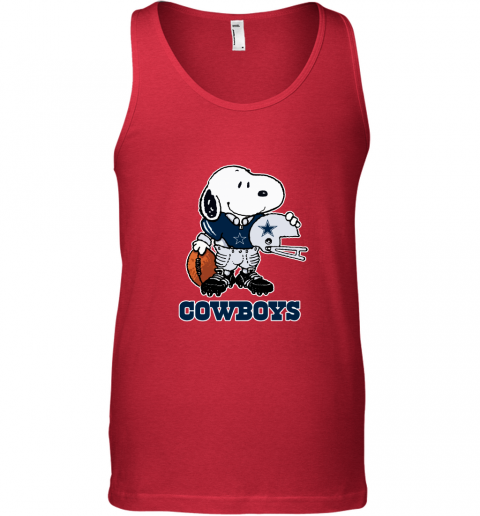 Snoopy A Strong And Proud Dallas Cowboys Player NFL Tank Top