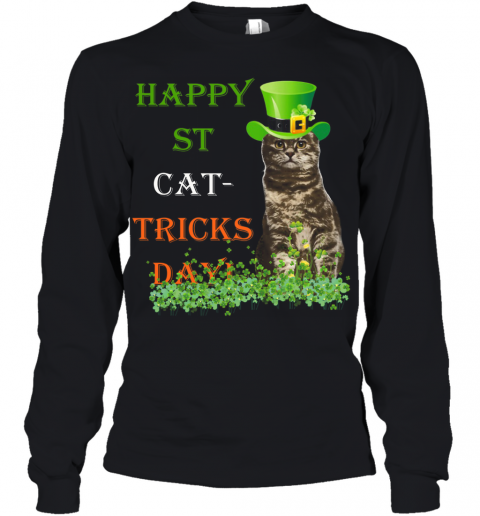 Happy St Cat Tricks Day Youth Long Sleeve