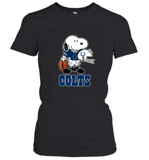 Snoopy A Strong And Proud Indianapolis Colts NFL Women's T-Shirt