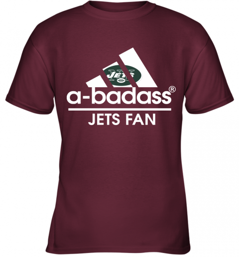 xdyk a badass new york jets mashup adidas nfl youth t shirt 26 front maroon