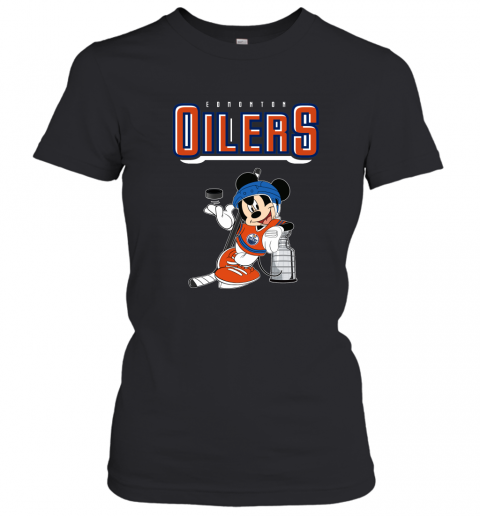 swbv mickey edmonton oilers with the stanley cup hockey nhl shirt ladies t shirt 20 front black