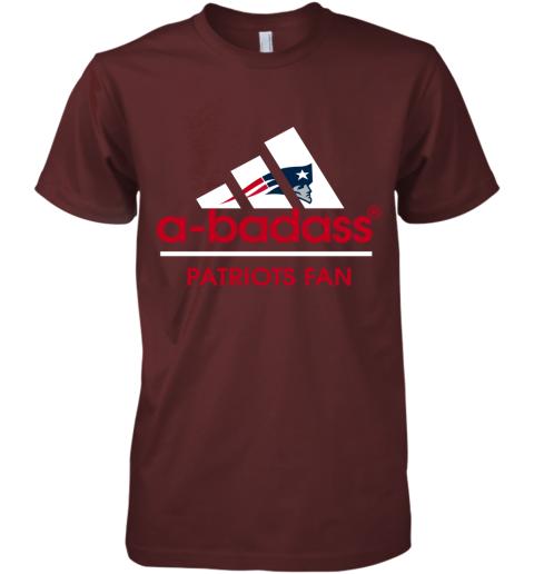 svw2 a badass new england patriots mashup adidas nfl shirts premium guys tee 5 front maroon