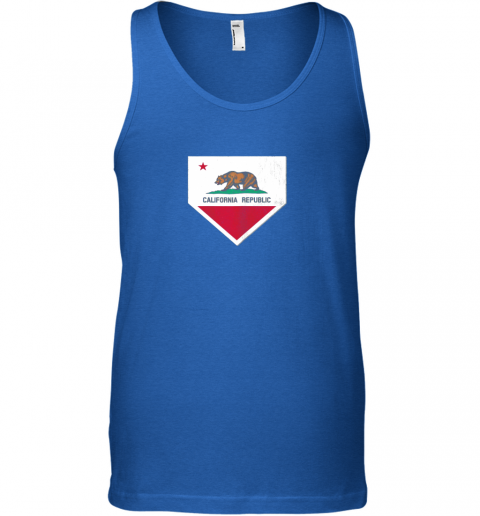 gtw7 vintage baseball home plate with california state flag unisex tank 17 front royal