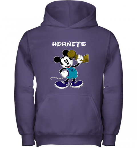 Mickey Charlotte Hornets Youth Hoodie