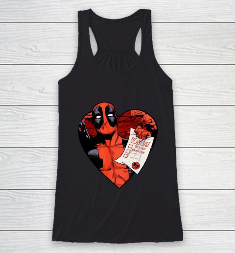 Marvel Deadpool Valentine To Do List Racerback Tank