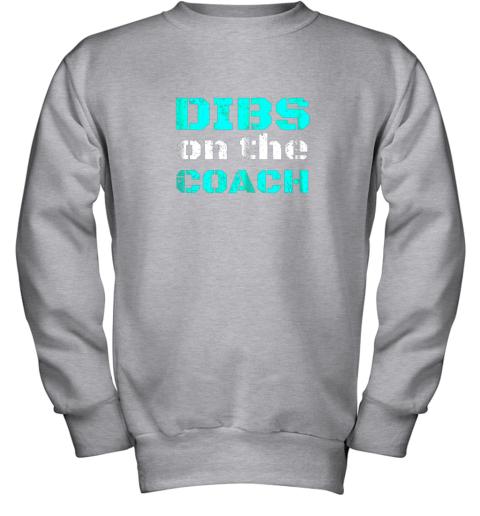 bqkk dibs on the coachfunny baseball shirt football lover youth sweatshirt 47 front sport grey