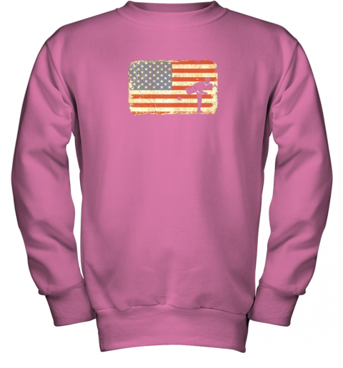 rpzk vintage baseball pitcher shirt american flag youth sweatshirt 47 front safety pink