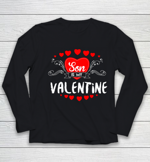 Mother Valentines Day Son Is My Valentine Youth Long Sleeve