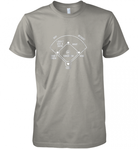 gojv who39 s on first shirt funny positions dark premium guys tee 5 front light grey