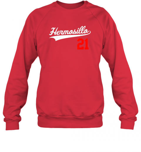 ayvc hermosillo shirt in baseball style for mexican fans sweatshirt 35 front red