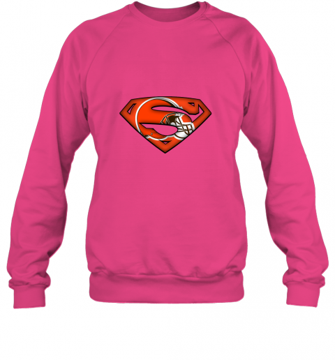 axik we are undefeatable the cleveland browns x superman nfl sweatshirt 35 front heliconia