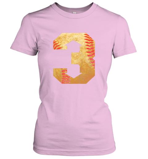 mhes three up three down baseball 3 up 3 down ladies t shirt 20 front light pink