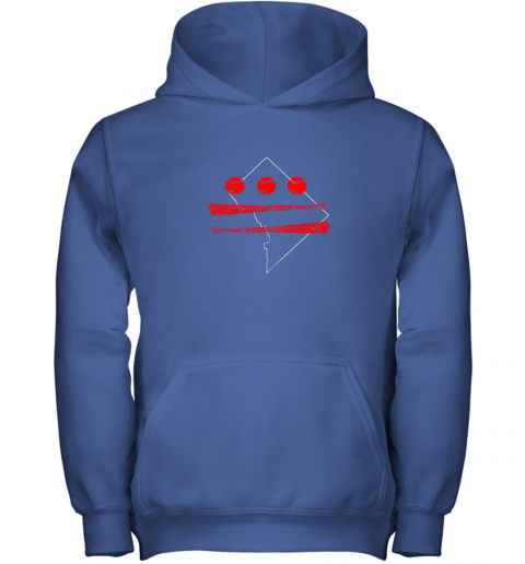 utz0 washington dc map capitol baseball flag youth hoodie 43 front royal