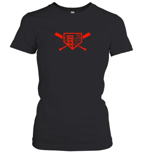 Cool San Francisco Baseball The City Bridge SFO Women's T-Shirt