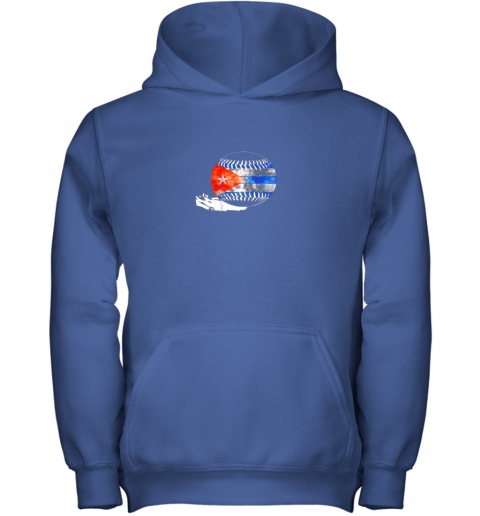 7fzn vintage baseball cuba flag shirt cuban pride youth hoodie 43 front royal