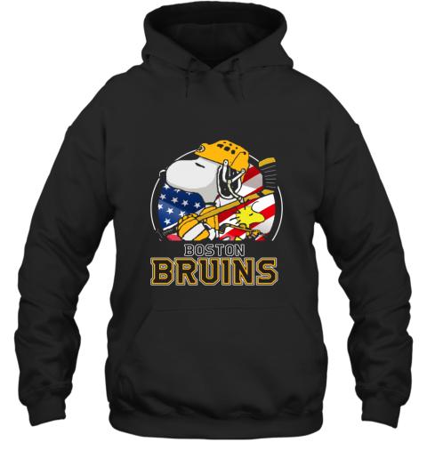 Boston Bruins Ice Hockey Snoopy And Woodstock NHL Hoodie