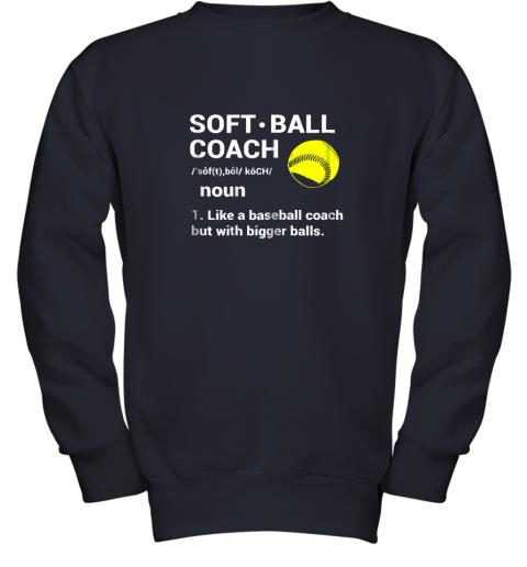 28f0 soft ball coach like baseball bigger balls softball youth sweatshirt 47 front navy